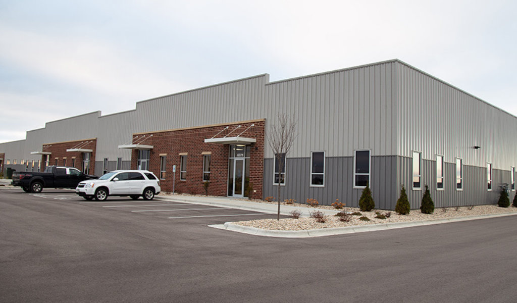 Recently completed Trowbridge Group Fle Building parking lot.