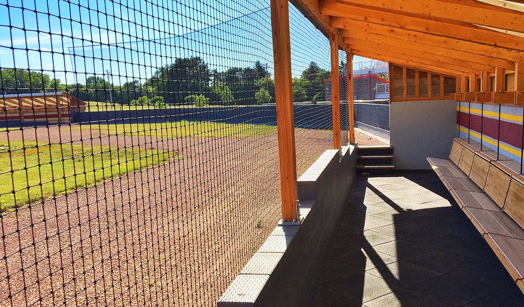 cap timm baseball field refurbished dugouts