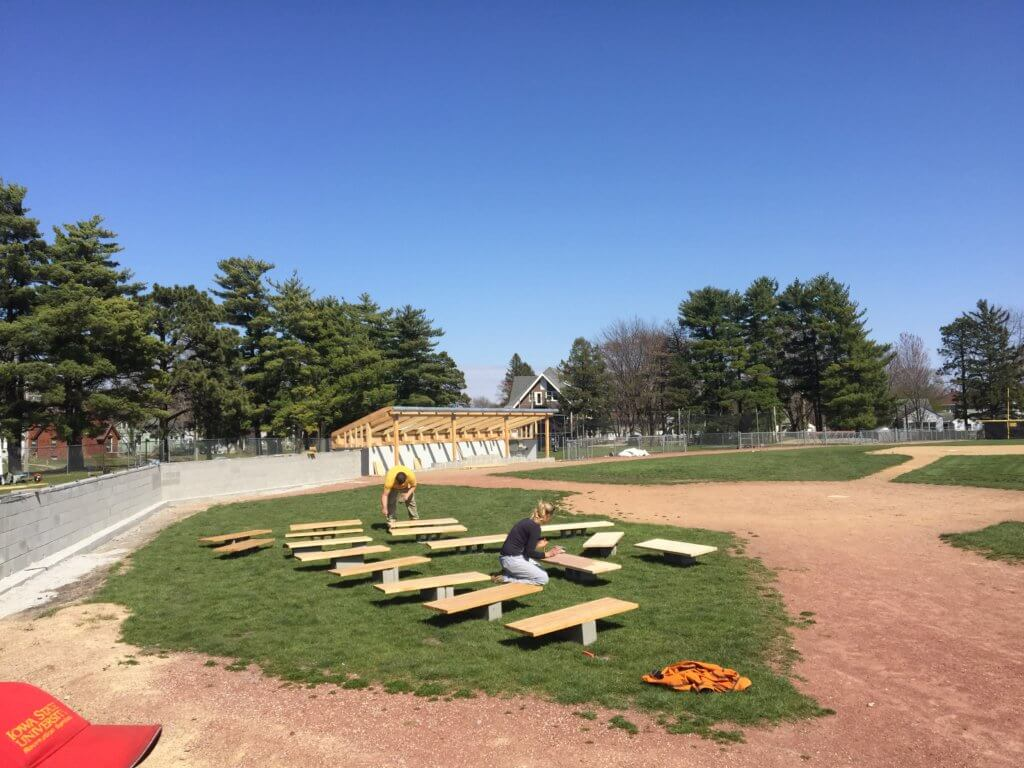 cap timm field dugout being refurbished