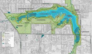 Rendering of Easter Lake improvements