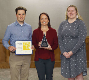 Three Snyder employees with APA award