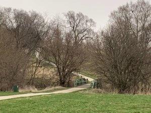 walking path across bridge