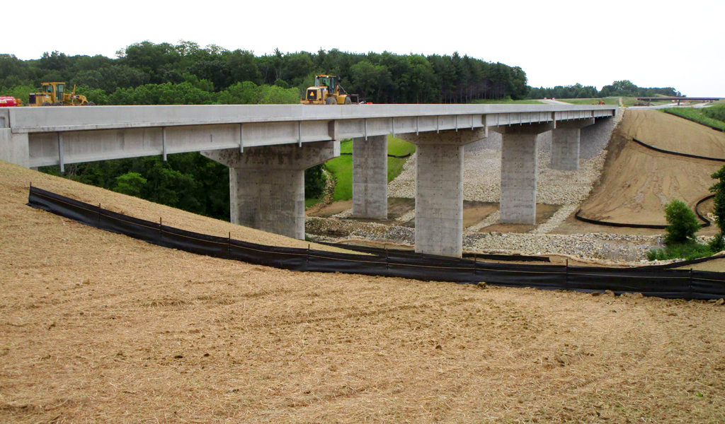 bridge piers under construction