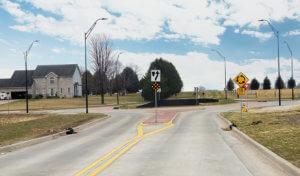 rising sun drive intersection roundabout