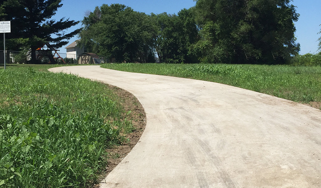 Phase 1 of Youngstown trail connects Youngstown park to oakwood drive