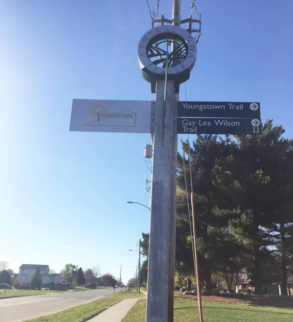 youngstown trail sign