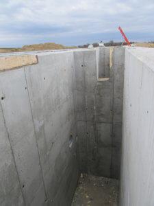 empty deep concrete pit