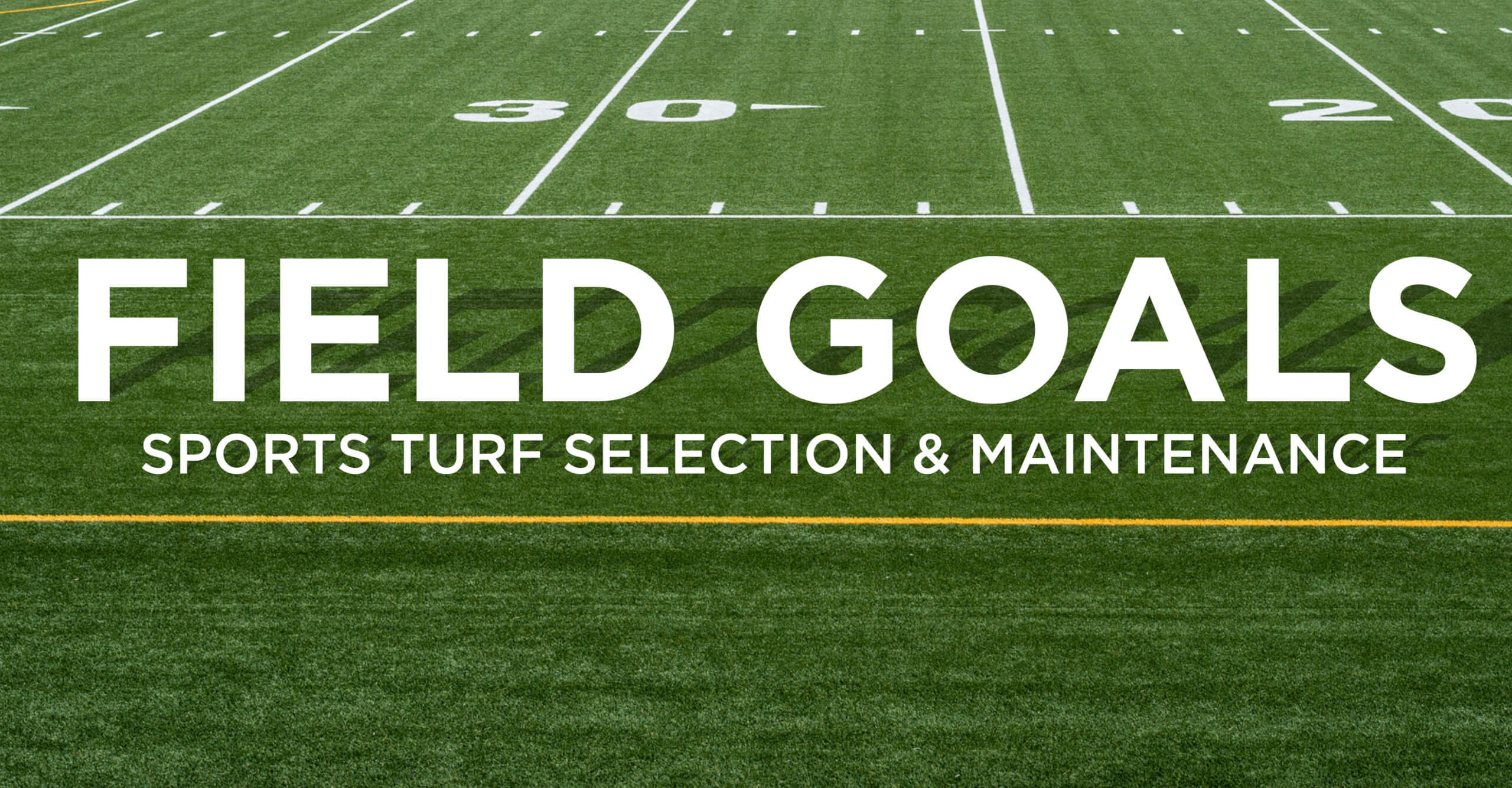 "Football field with the text ""Field Goals"" superimposed"