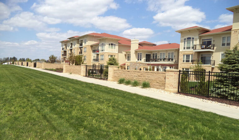 Community center at recently developed Pleasant View apartments in Madison, WI.