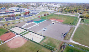 Aerial view of ISU southeast sports complex