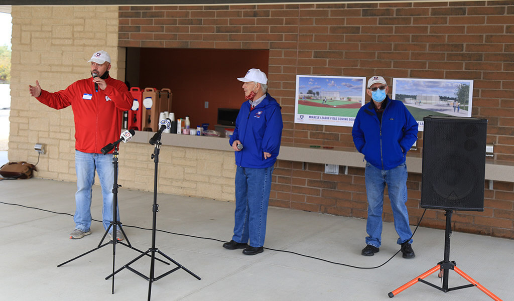 Bill Schultz speaks at groundbreaking of dane county miracle league