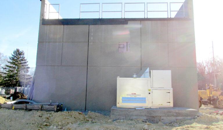 square concrete new lift station