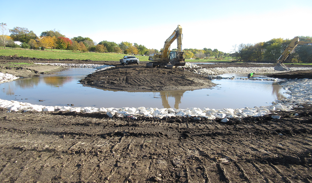 crews ding new path for hurley creek