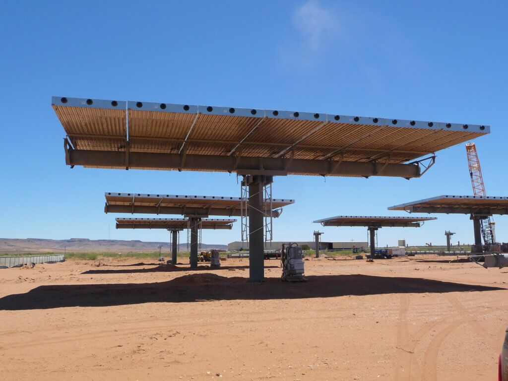 Ground-mounted photovoltaic (PV) colar panel