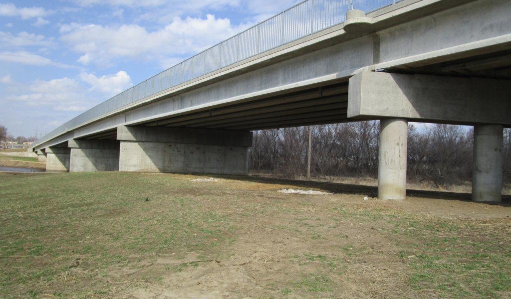 completed beaver bridge pier options