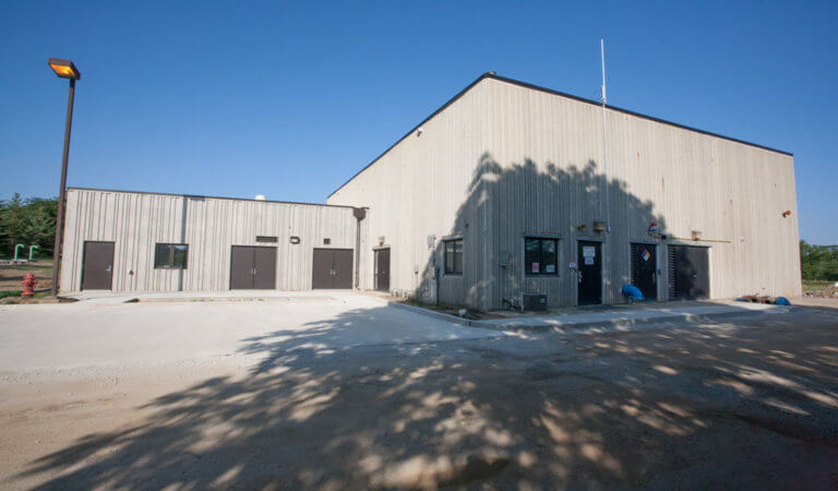 front entrance of new water treatment facility