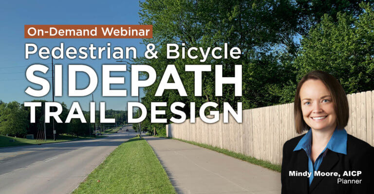 On-demand Sidepath Trail webinar featuring Snyder & Associates planner, Mindy Moore.