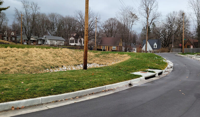 stormwater drain on street
