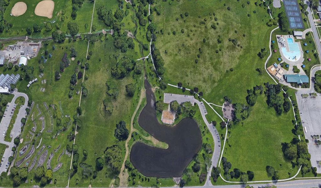 aerial view of noelridge park