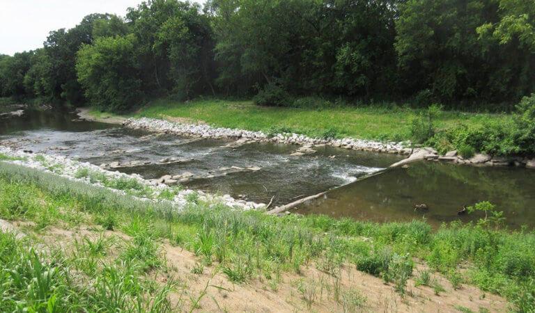 stream with rock ripple rapids