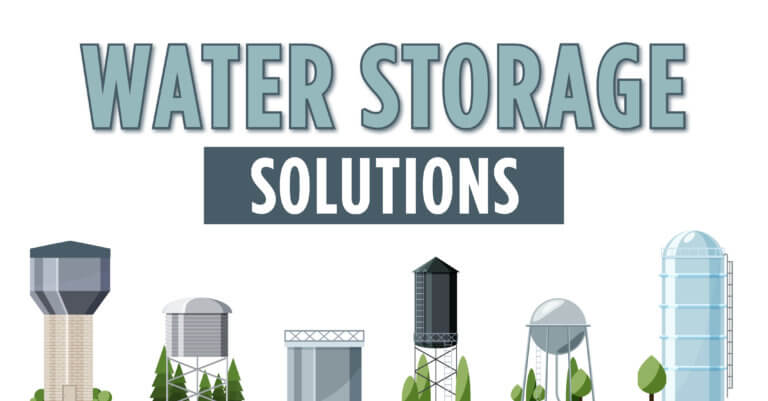 Water storage solutions graphics