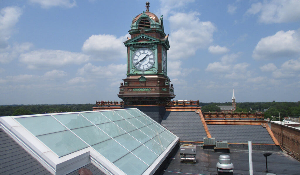 newly constructed clock tower