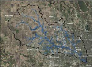 map of walnut creek watershed
